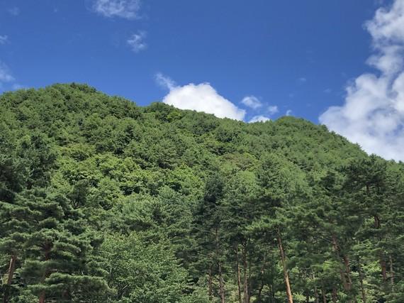 駒ヶ根の山と雲
