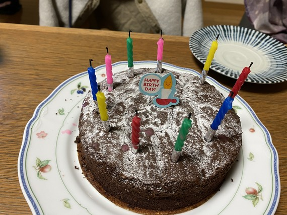 10歳のバースデーケーキ
