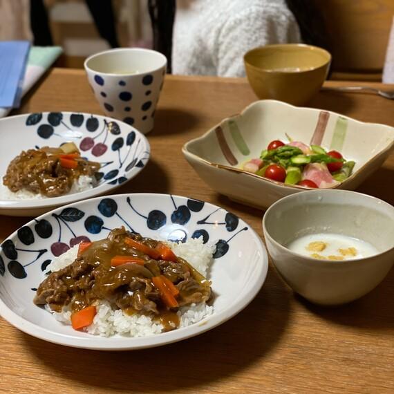 入院前日の夕飯のカレー