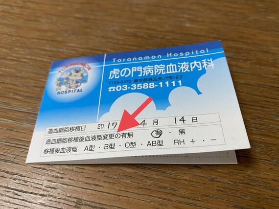 移植ポイントカード
