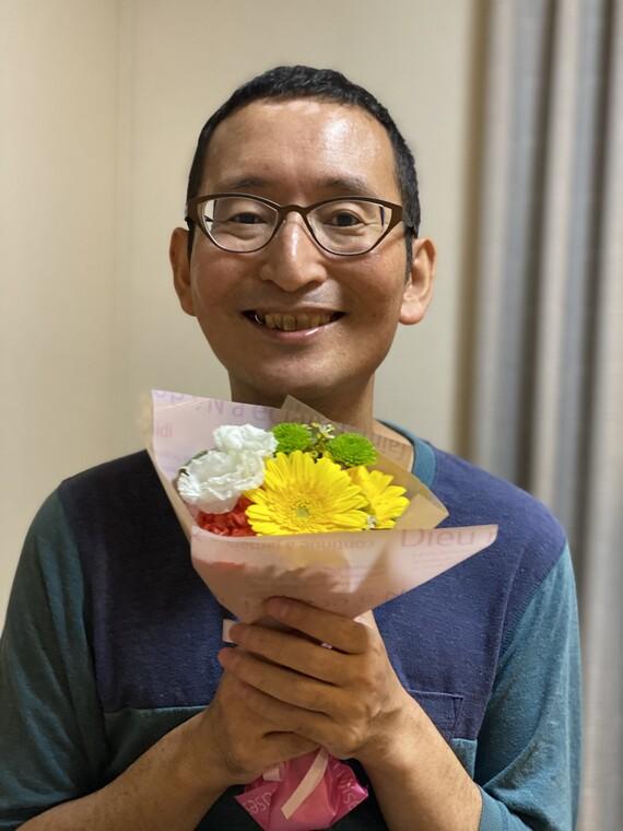 退院後のサプライズ花束